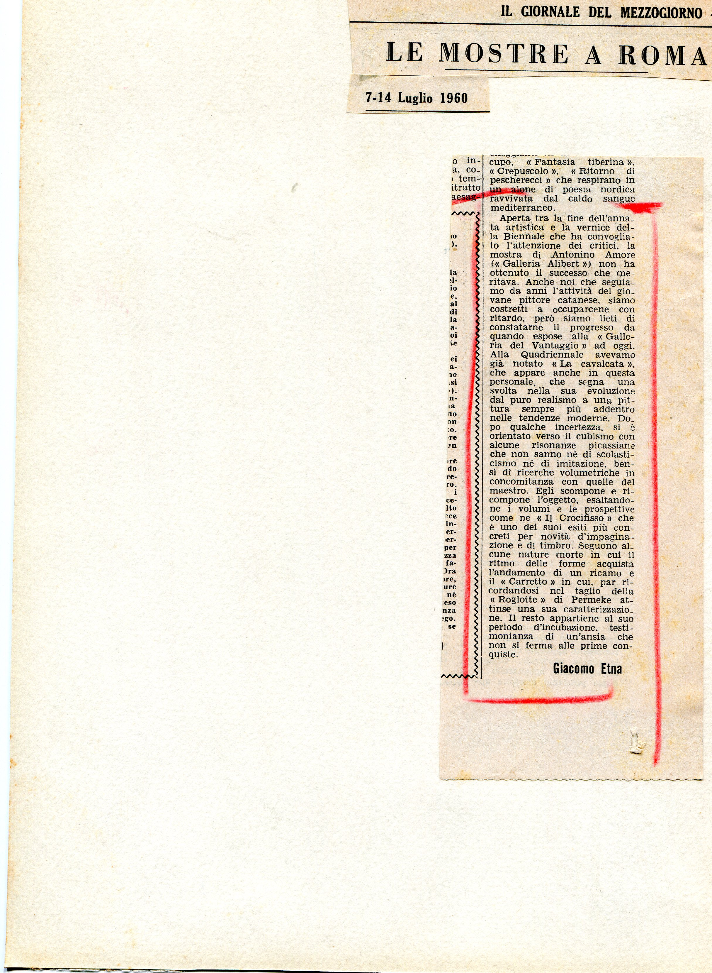 Il giornale del mezzogiorno - 7-14 luglio 1960